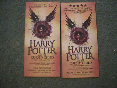 HARRY POTTER AND THE CURSED CHILD - 2 x different flyer flyers