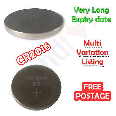 CR2016 - 3V - Blister Pack of 5 Lithium Button Batteries - Very long Expiry