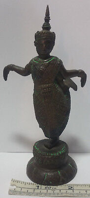 Vintage Thai Dance Bronze Figurine. Very Detailed. 5.5 Inches Tall. Weighs 10 Oz