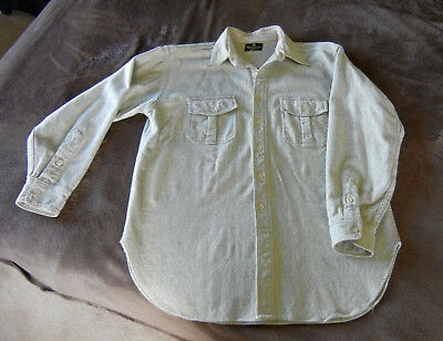 Vintage Abercrombie & Fitch USA Wool Chore Hunting Work Shirt Jacket 1950s