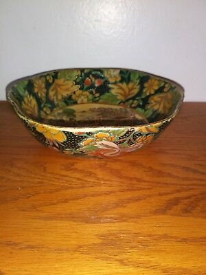 Exquisite Japanese Hand Painted Imari Bowl with Scalloped Edge 6 ""