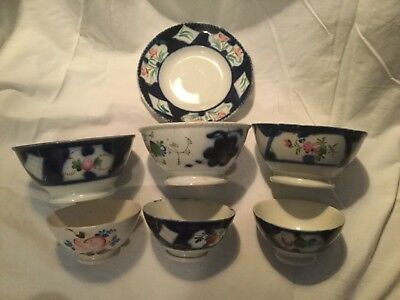 Lot Antique Russian Footed Porcelain Bowls, Charger