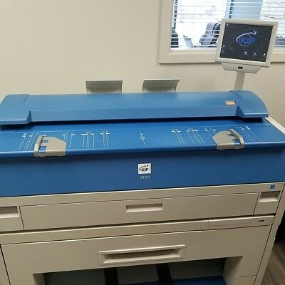 Kip 3100 wide format Plotter 2 roll Print, scan, copy (Low Meter Count)
