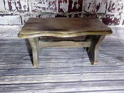 Antique Vintage Wooden Small Milking Foot Stool Rest Display Plant Table Stand