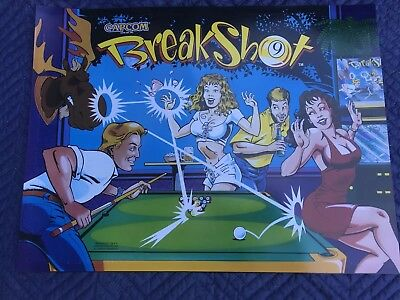 Breakshot pinball machine Original Translite / Mylar Back Box Art