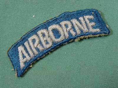 Post WWII 82nd Airborne Bullion Tab Patch German Theater Made Paratrooper Glider