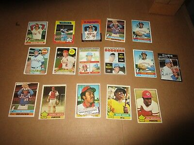 1960's 1970's Topps Baseball Card Lot Mostly Hall of Famers (16)