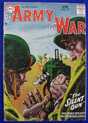 Our Army at War #57  NO RESERVE Silver Age