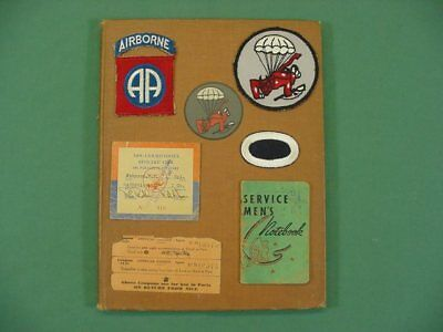 RARE NAMED WWII 508th PIR 82nd Airborne Patch Unit History Grouping Paratrooper