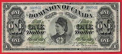 1878 $1 Dominion of Canada Note Payable At Montreal - Lovely Bright VF