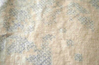 Vintage Large Stamped Linen & Lace Tablecloth For Cross Stitch Embroidery Ss375