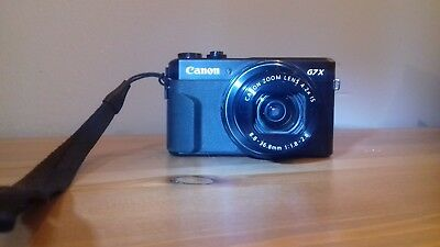 Canon PowerShot G7X  Digital Camera - Black excellent condition