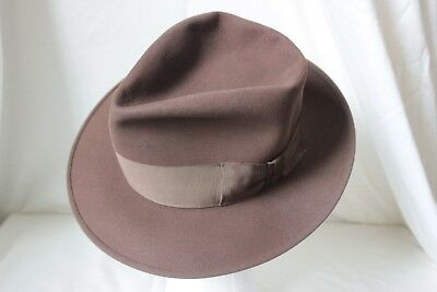 BEAUTIFUL Vintage 50's ROYAL STETSON FEDORA, Brown, 7 1/8th