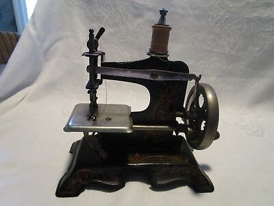 Antique /vintage Germany Metal Childs Sewing Machine (161059)-W/bird     #3