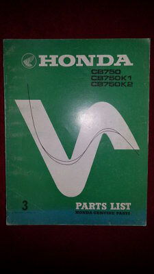Honda CB750 CB750K0 K1 K2 DREAM BENLY PARTS LIST MANUAL DEALER MINT CONDITION