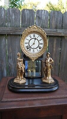ansonia clock co. new york ,crystal palace statue mantle clock project