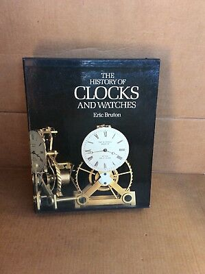 Hard Backed Book and Case on The History of Clocks and Watches, by Burton