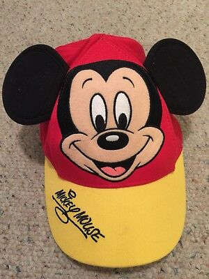 Walt Disney World Parks Toddler Mickey Mouse Hat Baseball Cap with Ears Red