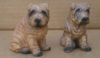 Shar Pei Dog Puppy SharPei Porcelain Ceramic Salt Pepper S&P Shakers Pair