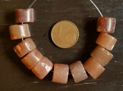 11mm Beads Antique Africa Sahara Ancient Neolithic Agate Carnelian Beads Africa