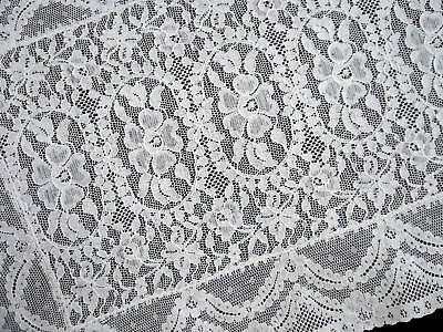 """Exquisite Antique French Alencon Lace Table Runner 33"""""""