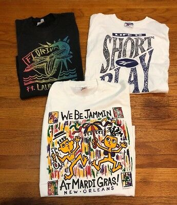 Vintage Lot Of 3 Tees 80s And 90s