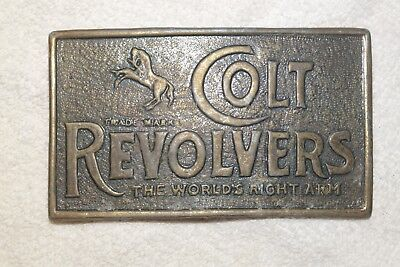 Vintage Colt Revolvers Belt Buckle The World's Right Arm