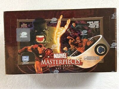 Upper Deck Marvel Masterpieces Factory Sealed Box Series 2 2008