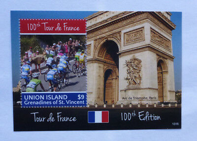 2013 St VINCENT & GRENADINES 100th ANNIV TOUR DE FRANCE STAMP MINI SHEET