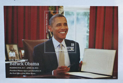 2013 St VINCENT & GRENADINES BARACK OBAMA MUSTIQUE STAMP MINI SHEET