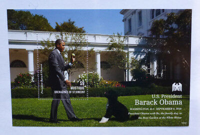 2013 St VINCENT & GRENADINES BARACK OBAMA MUSTIQUE STAMP MINI SHEET #2