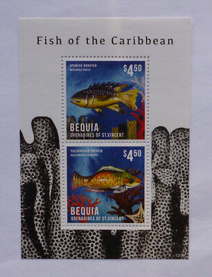 2013 St VINCENT & GRENADINES FISH OF CARIBBEAN BEQUIA STAMP MINI SHEET