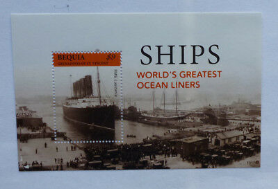 2013 St VINCENT & GRENADINES OCEAN LINERS SHIPS BEQUIA STAMP MINI SHEET
