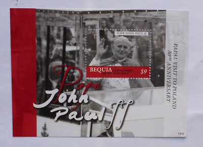 2013 St VINCENT & GRENADINES POPE JOHN-PAUL II BEQUIA STAMP MINI SHEET