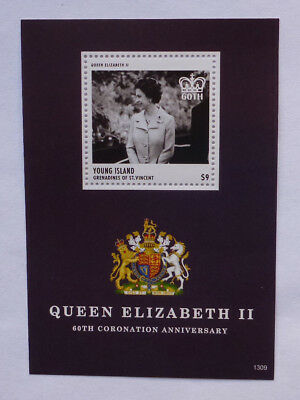 2013 St VINCENT & GRENADINES QEII 60TH YOUNG ISLAND STAMP MINI SHEET