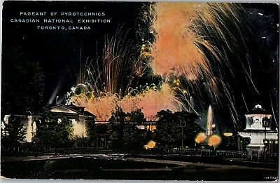 Pageant of Pyrotechnics Canadian National Exhibition Toronto Vtg Postcard I02