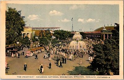 The Fountain, Canadian National Exhibition Grounds, Toronto Vintage Postcard I02
