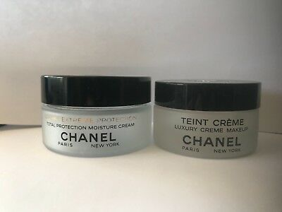 Lot 2 CHANEL Skincare EMPTY GLASS CONTAINERS Makeup Crafts Candles Refill EUC