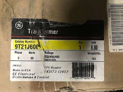 General Electric (GE) 9T21J6000 Transformer ** New In Box, Free Shipping **