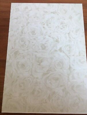 A4 100gsm Stationary Design Paper - Faded Gold Roses Design x 25 sheets per pack
