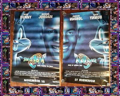 SPACE JAM Michael Jordan Rolled Double Sided Original 27x40 Movie Poster