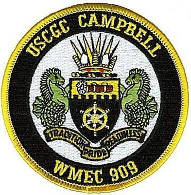 USCGC CAMPBELL WMEC-909 New Bedford coat of arms KR2587 USCG Coast Guard patch