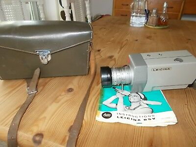 Leica Leitz Leicina 8 SV with Vario 7,5 -35mm F/1,8 + Leather Bag
