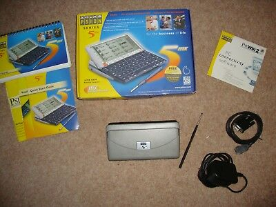PSION 5MX PDA  boxed all accessories  Grade B and fully working (ref:485)