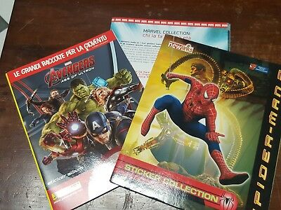AVENGERS + SPIDER-MAN 2 STICKERS EMPTY ALBUMs PANINI NEWLINKS