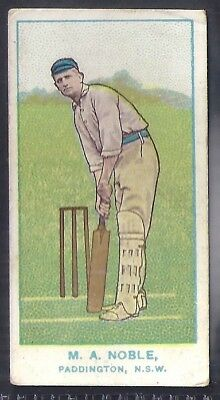 Wills-Australian Club Cricket Blue Back (With State)- Noble - Paddington Nsw