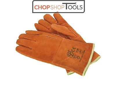 Sealey SSP151 Leather Welding Gauntlets Lined Heavy-Duty Extra-Large - Pair