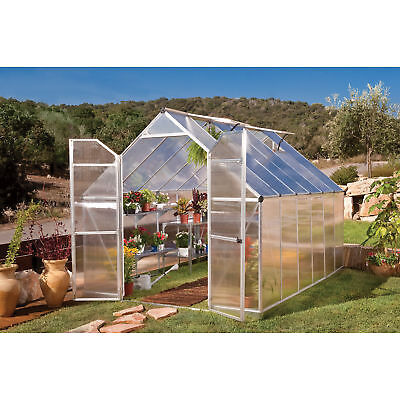 Poly-Tex Essence Greenhouse - 8ft. x 12ft., Silver, #HG5812