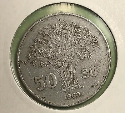1960 Vietnam 50 Su Collector Coin For Collection.
