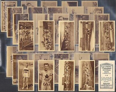 Phillips-Full Set- Olympic Champions Amsterdam 1928 (36 Cards) - Vg/Exc